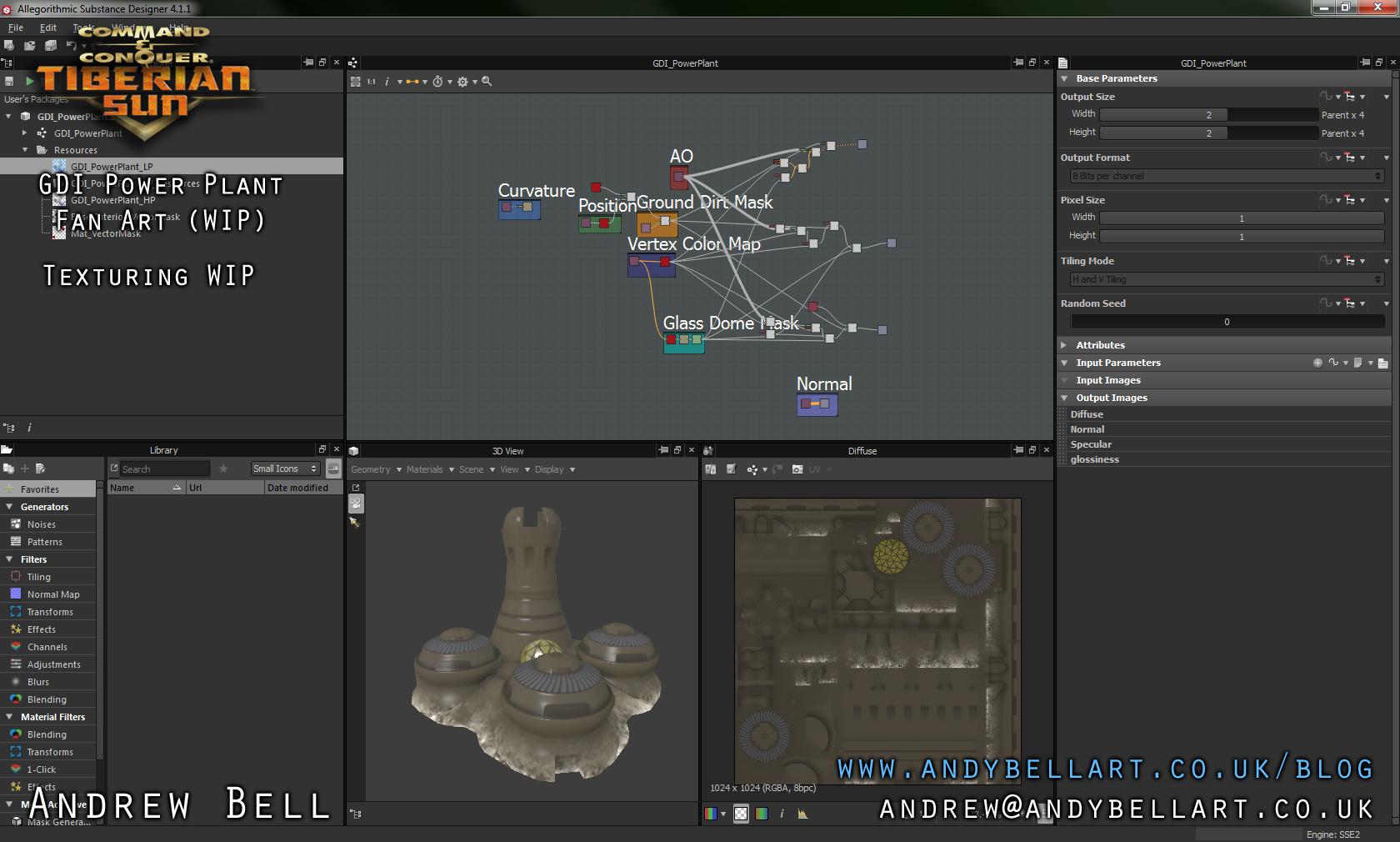 GDI Power Plant - Texturing WIP - Substance Designer Screenshot