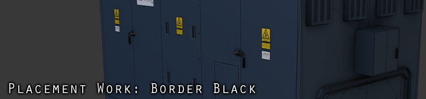 Placement Work: Border Black